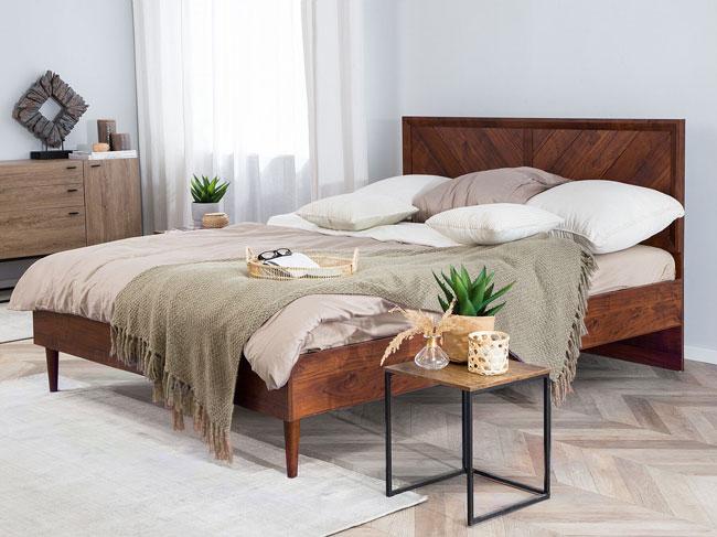 12. Beliani Mialet midcentury modern bed