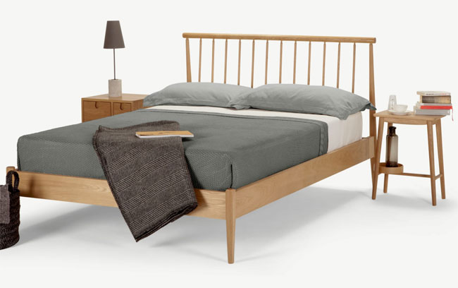 13. Penn midcentury modern bed at Made