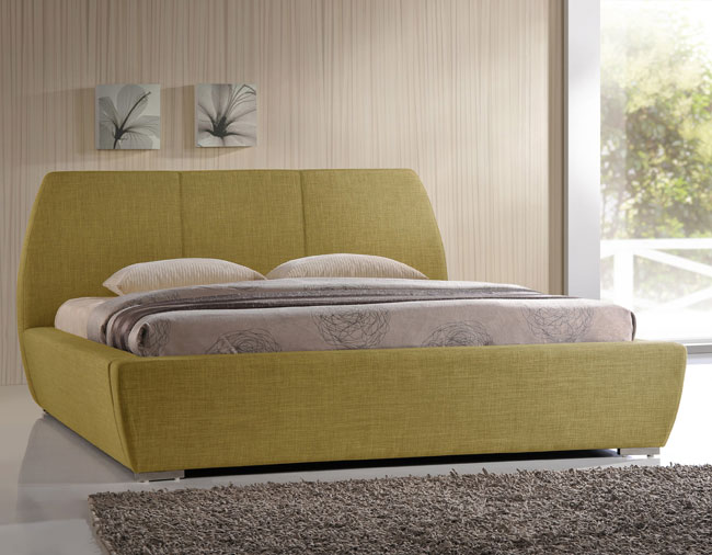 17. 1960s-style upholstered bed at Wayfair