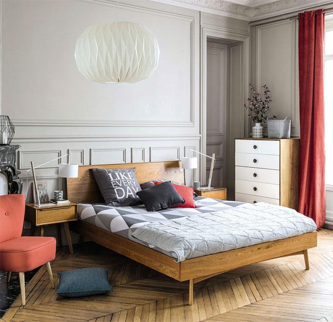 18. Portobello vintage oak bed at Maisons Du Monde