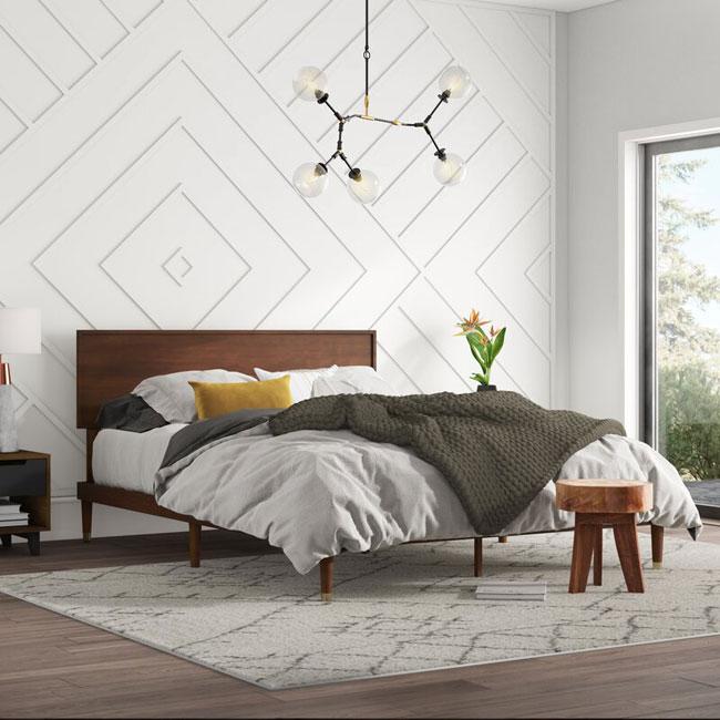19. Retro Buhr bed at Wayfair
