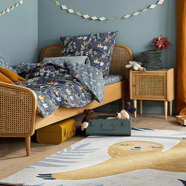 22. Buisseau oak and rattan kids bed at La Redoute