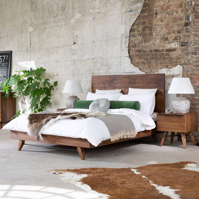 23. Pagoda midcentury modern bed frame at Fishpools