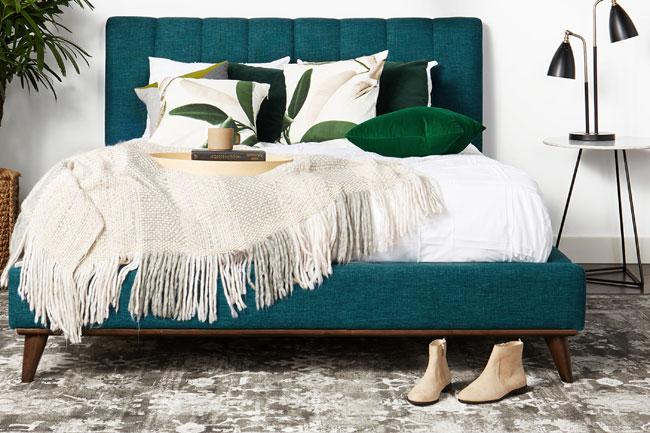 35. Hughes midcentury modern bed at Joybird