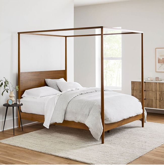 9. Mid Century bed at West Elm