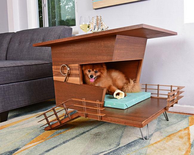 1. Midcentury modern dog houses by Pijuan Design Workshop