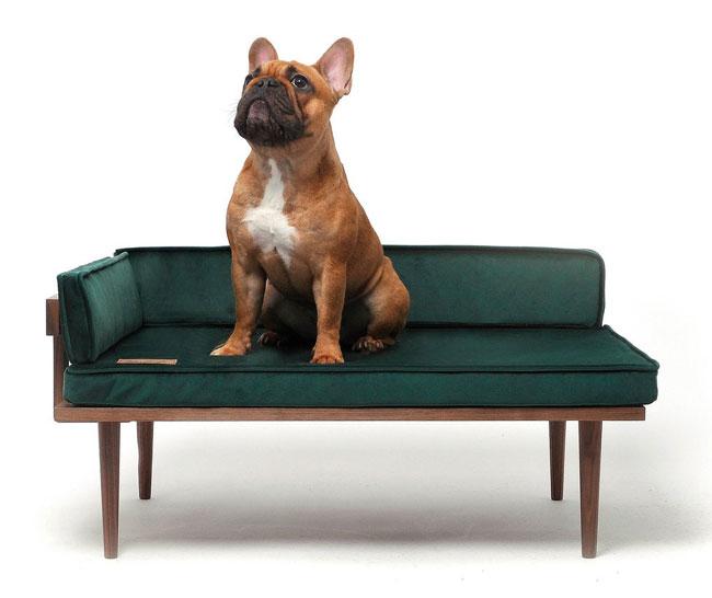 3. Midcentury modern walnut dog bed by Naluli