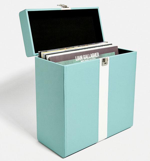 Lenco vintage-style record storage cases