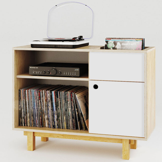 Turntable stands and record storage by Kunsst Furniture