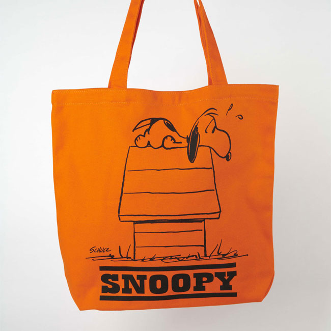 Vintage-style Peanuts tote bags at Magpie