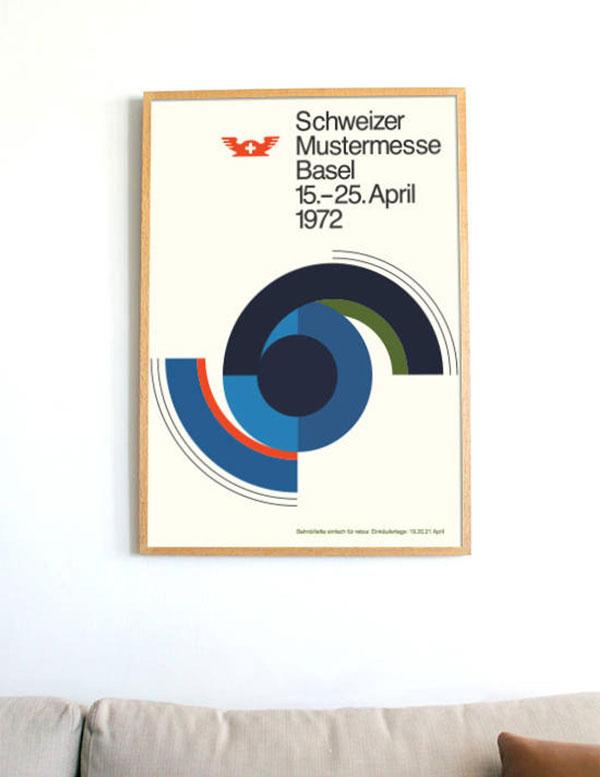 Midcentury modern typography prints by Bold Modern