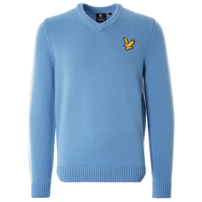 1980s Lyle & Scott x Stuarts London v-neck sweaters