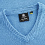 1980s Lyle & Scott x Stuarts London v-neck sweaters
