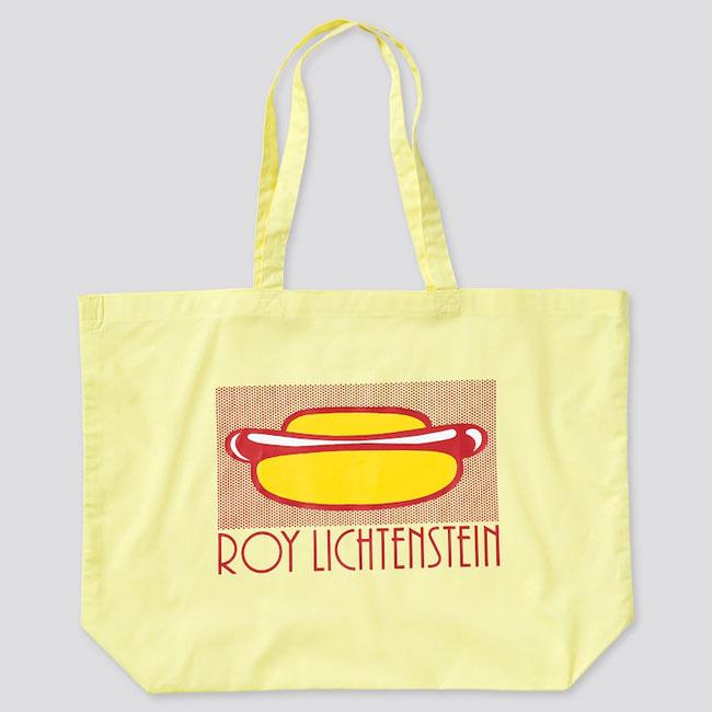 Roy Lichtenstein printed bags at Uniqlo