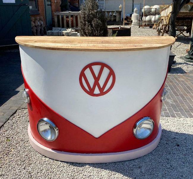 Vintage-style VW Camper Van home bar range