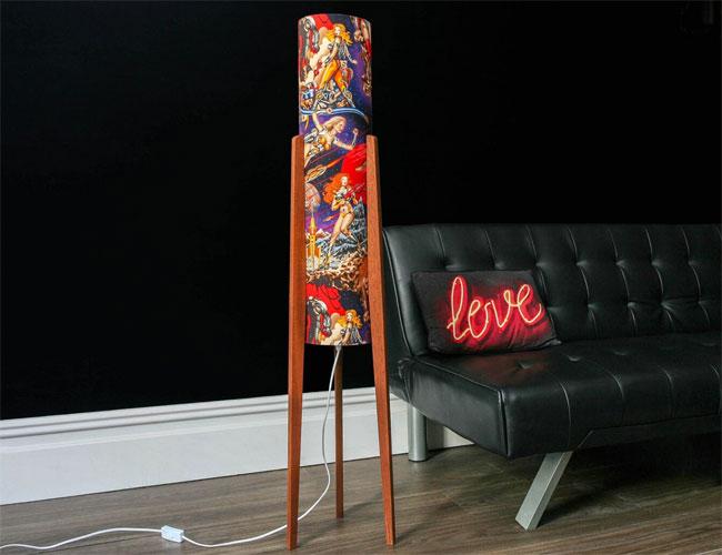Handmade retro rocket floor lamps by Harvest Moon