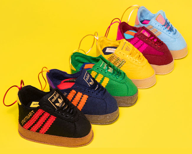 Adidas City Series trainers Christmas decorations (image credit: Size? website)