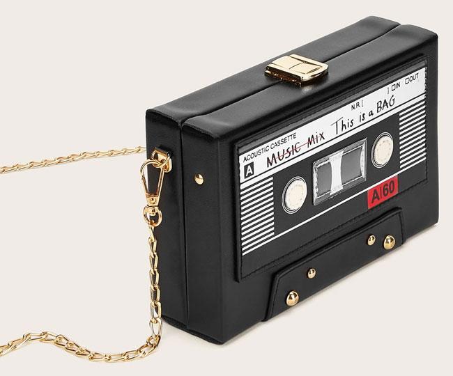 Shein X Wejdene cassette tape bag