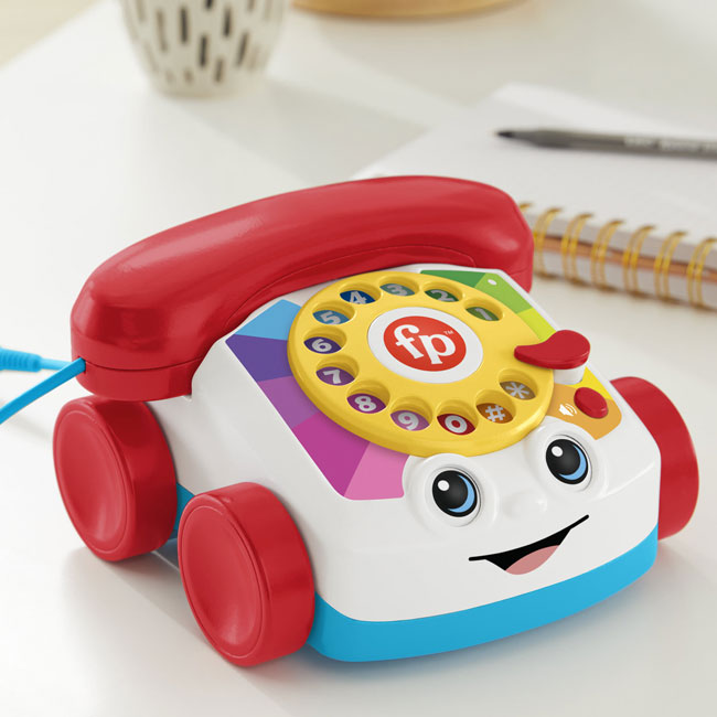 1960s Fisher-Price Chatter Telephone for adults launches